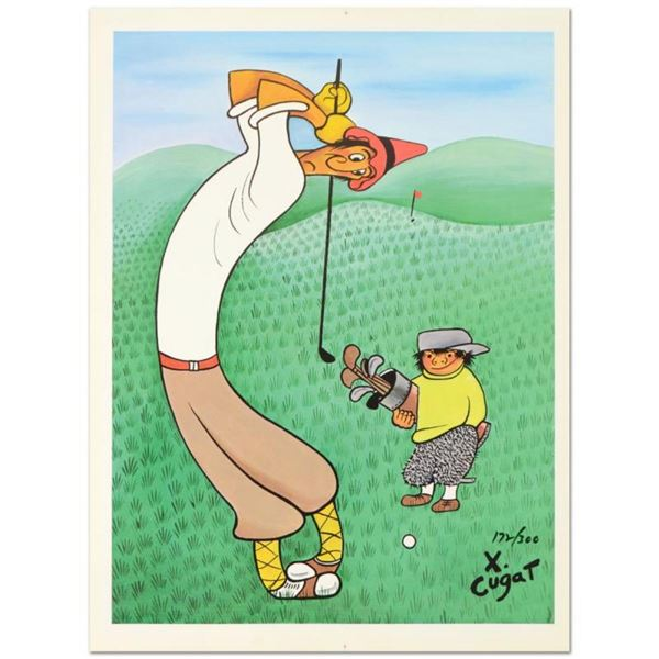 "Xavier Cugat (1900-1990), ""Skinny Golfer"" Limited Edition Lithograph, Numbered a"
