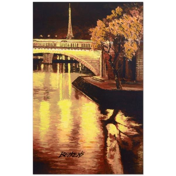 """Howard Behrens (1933-2014), """"Twilight on the Seine, I"""" Limited Edition Hand Embe"""