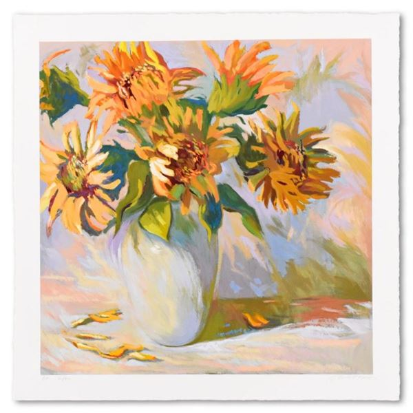 "S. Burkett Kaiser, ""Sunflowers"" Limited Edition, AP Numbered and Hand Signed wit"