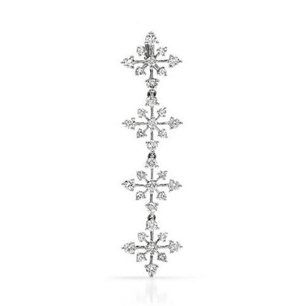 18k White Gold 1.15CTW Diamond Pendant, (SI3/G-H)