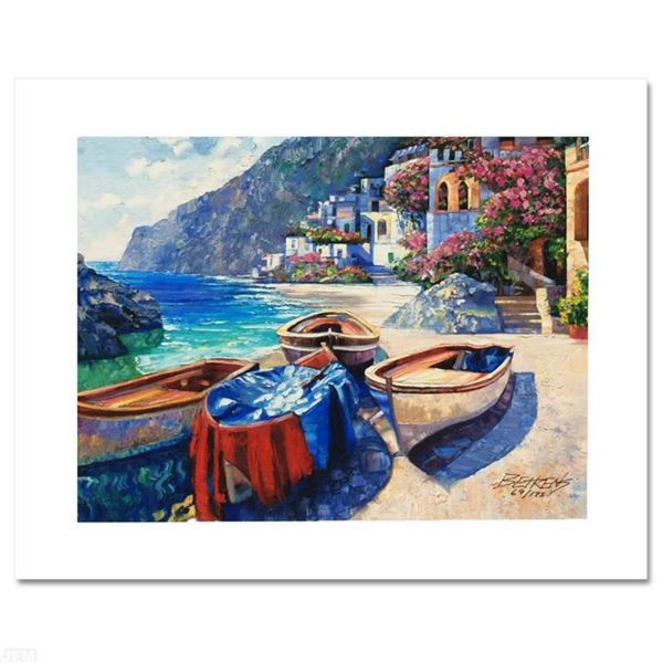 """Memories of Capri"" Limited Edition Hand Embellished Giclee on Canvas by Howard"
