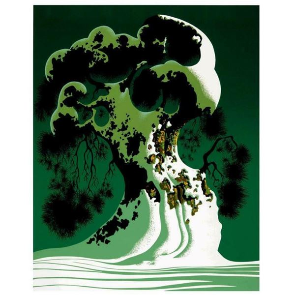 "Eyvind Earle (1916-2000), ""Snow Covered Bonsai"" Limited Edition Serigraph on Pap"