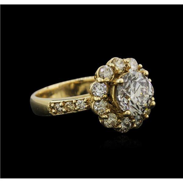 14KT Yellow Gold 2.46 ctw Diamond Ring