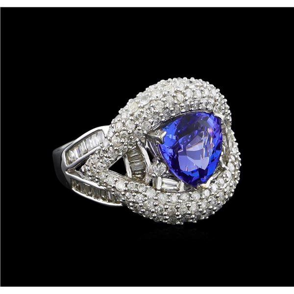14KT White Gold 2.94 ctw Tanzanite and Diamond Ring