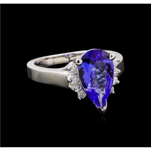 2.70 ctw Tanzanite and Diamond Ring - 14KT White Gold
