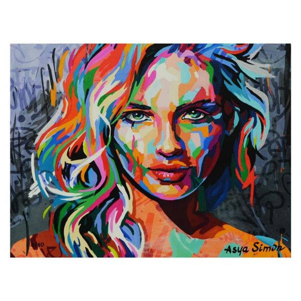 """Asya Simon, """"Secrets"""" Limited Edition on Canvas, Numbered and Hand Signed with L"""