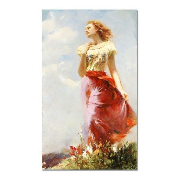 """Pino (1939-2010), """"Wind Swept"""" Artist Embellished Limited Edition on Canvas (24"""""""