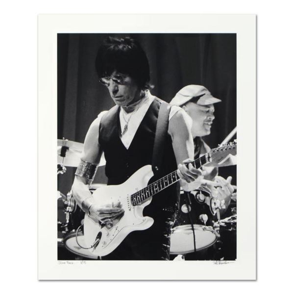 "Rob Shanahan, ""Jeff Beck"" Hand Signed Limited Edition Giclee with Certificate of"