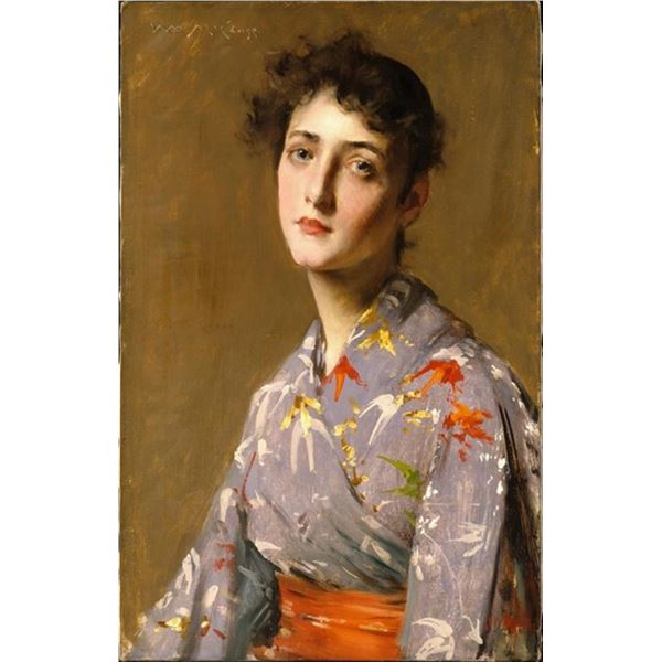 William Merritt Chase - Girl in a Japanese Costume
