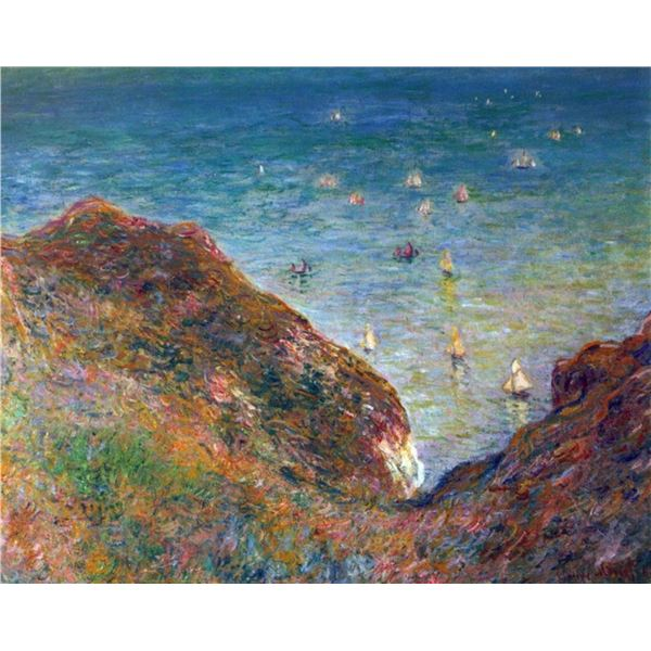 Claude Monet - On the Cliffs of Pour Ville, Fine Weather