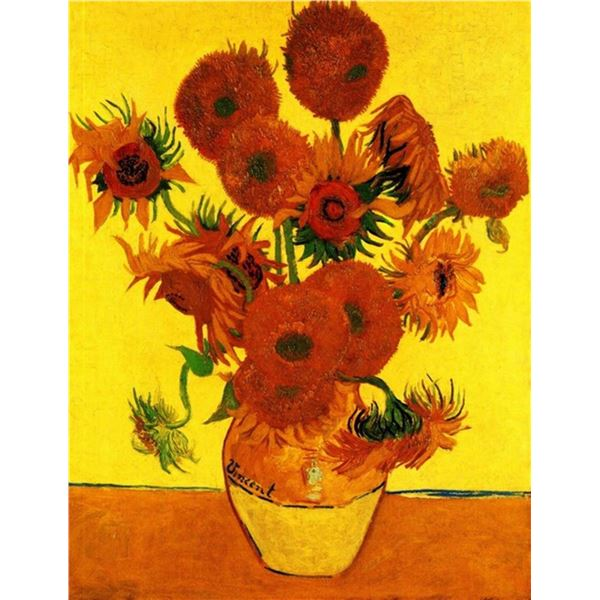 Van Gogh - Still Life Vase With Fifteen Sunflowers 3