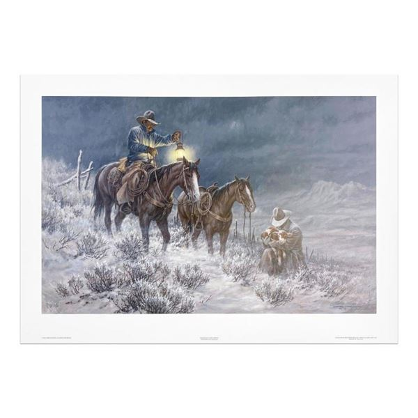 """Larry Fanning (1938-2014), """"High Range Early Arrival"""" Limited Edition Lithograph"""