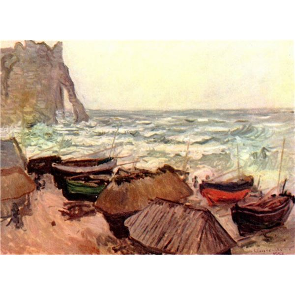Claude Monet - Durchbrochener Rock at Etretat