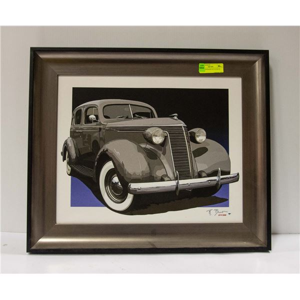 1937 STUDEBAKER DICTATOR ON CANVAS 24X21