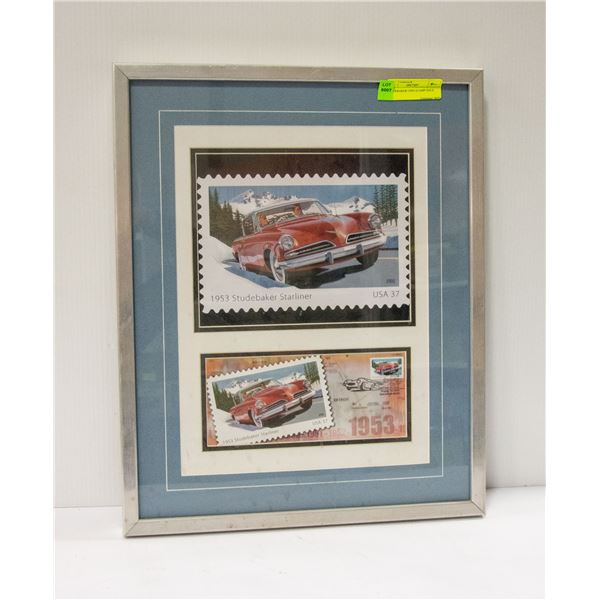 STUDEBAKER USPS STAMP ISSUE 17X20