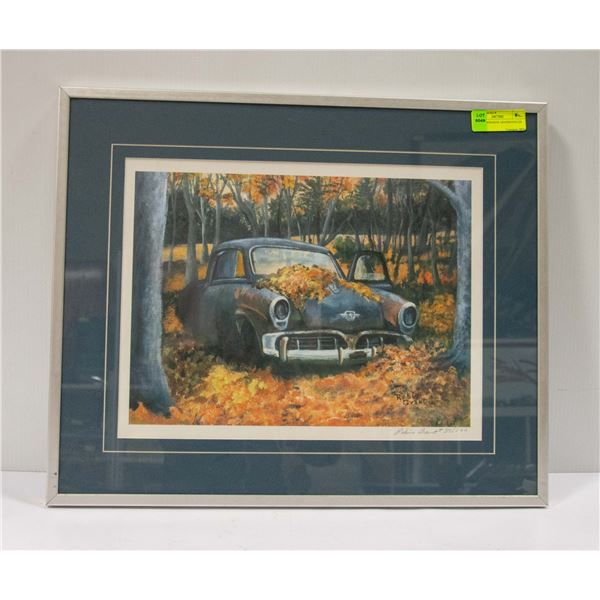 1952 STUDEBAKER ABANDONED IN LEAVE SIGNED PICTURE