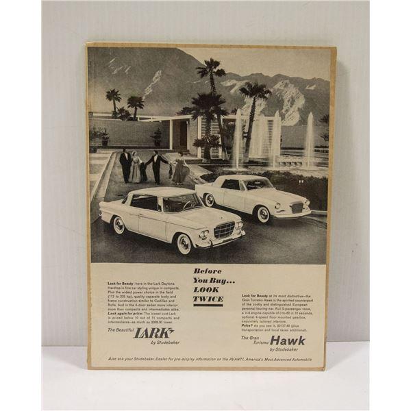 1962 LARK & HAWK AD