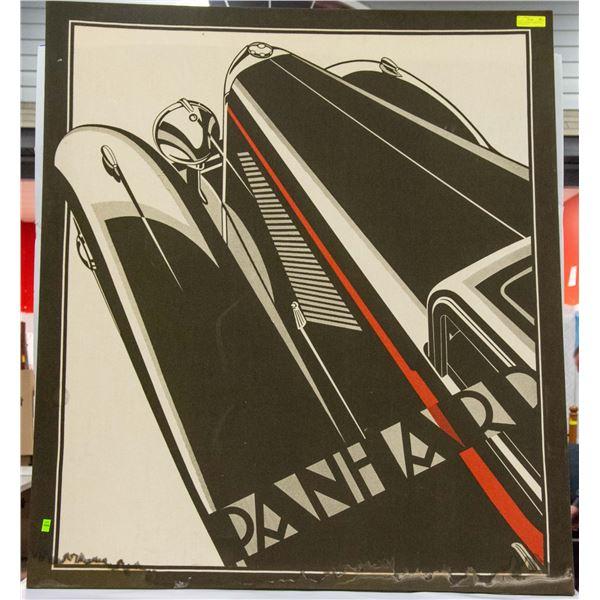 "LARGE ""PANHARD"" FABRIC  WALL HANGING 48""X52"""
