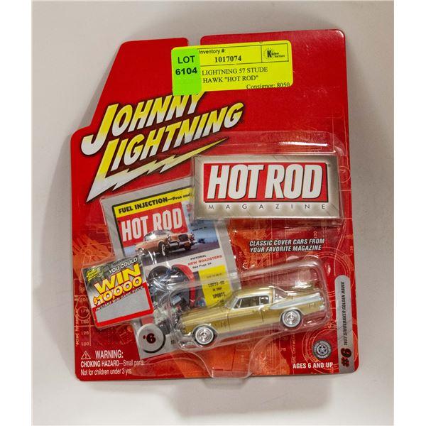 """JOHNNY LIGHTNING 57 STUDE GOLDEN HAWK """"HOT ROD"""""""