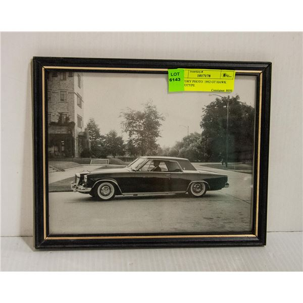FACTORY PHOTO  1952 GT HAWK PROTOTYPE