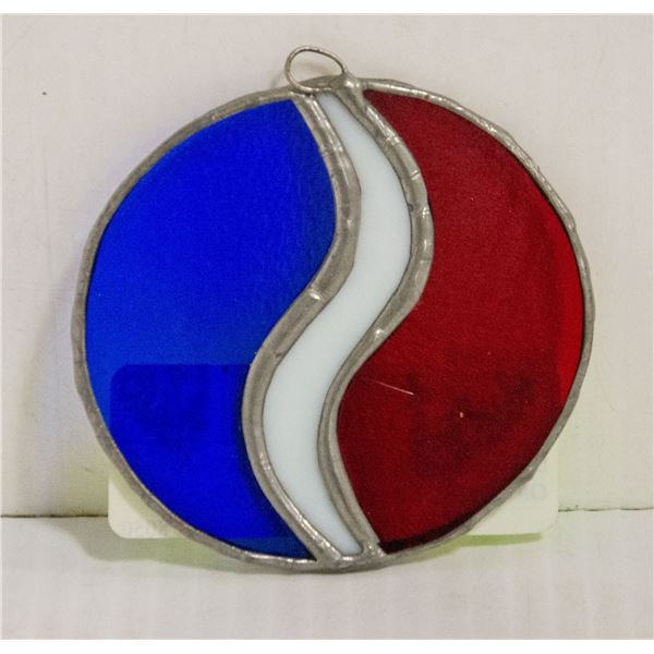 """STUDEBAKER STAINED GLASS ORNAMENT 2 1/2"""""""