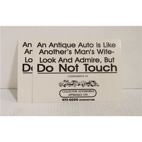 """2 ANTIQUE AUTO """"DO NOT TOUCH"""""""
