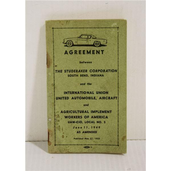 STUDEBAKER UNION AGREEMENT 1953