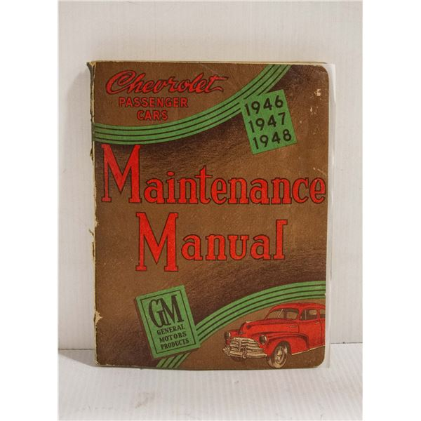 SHOP MANUAL 1946-48 CHEVROLET