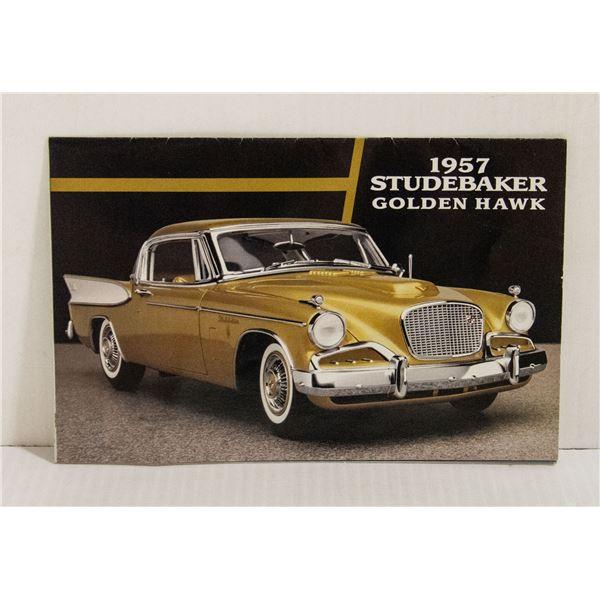 1957 DANBURY MINT BROCHURE GOLDEN HAWK