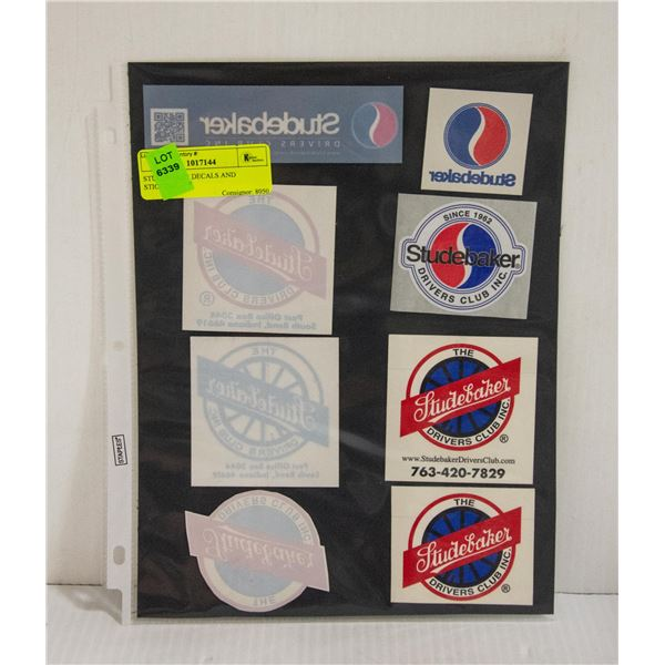 STUDEBAKER DECALS AND STICKERS