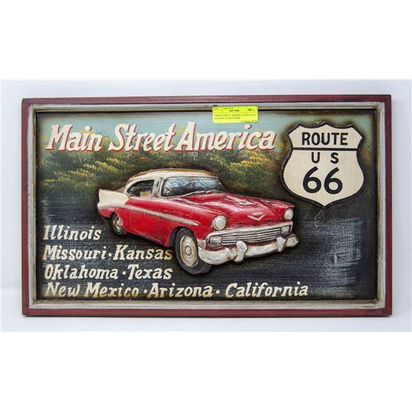 """""""MAIN STREET AMERICA"""" ROUTE 66 FRAMED 3D ARTWORK"""