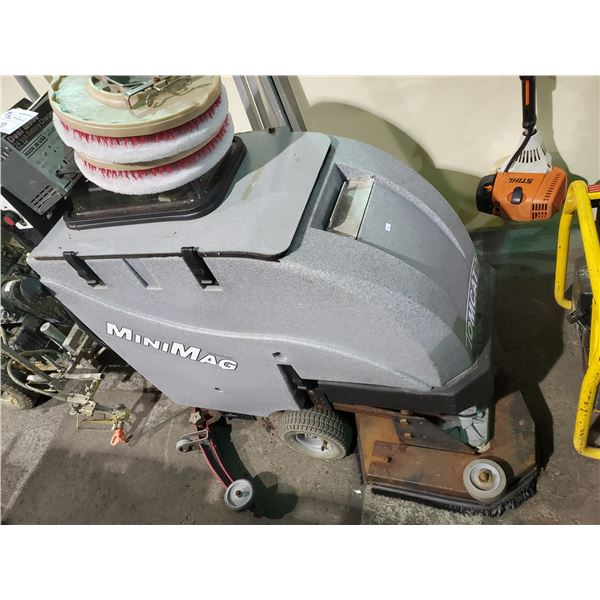 GREY MINIMAG INDUSTRIAL BATTERY OPERATED JANITORIAL FLOOR SCRUBBER WITH CHARGER