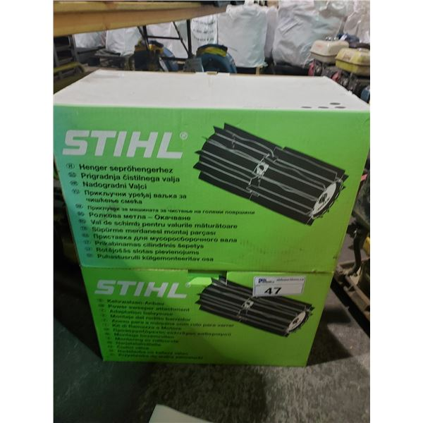 2 BOXES OF STIHL4601 MULTI TOOL POWER SWEEP