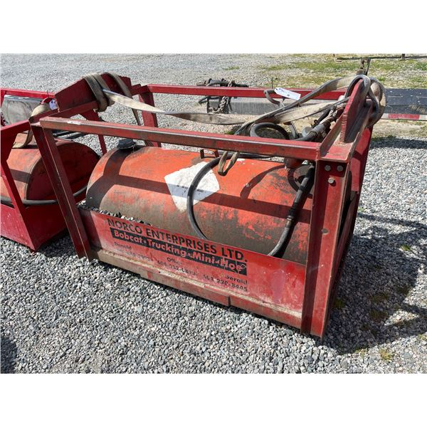 *RED 450L DIESEL TIDY TANK STORAGE TANK WITH FULL CRANE LIFTING CAGE, STRAP, FILTER & HAND PUMP,