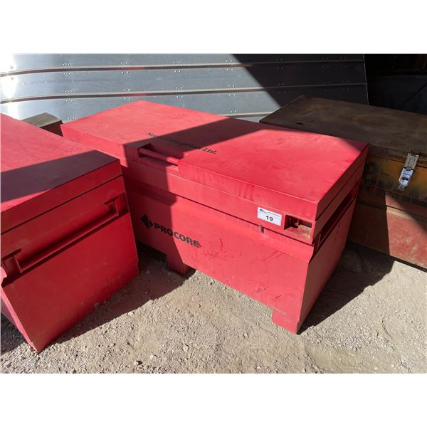 RED PROCORE 60 W X 24 D X 28 H HEAVY DUTY JOB SITE TOOL CHEST