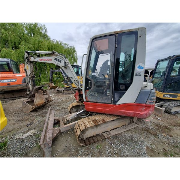 """TAKAHUCHI TB235 SERIAL# T23502530 EXCAVATOR WITH 16"""" DIGGING BUCKET, 34"""" CLEANUP BUCKET, HYDRAULIC"""