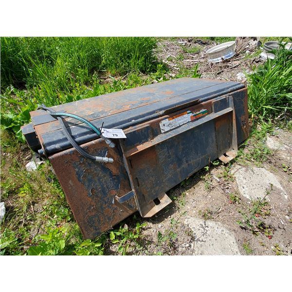 """*BOBCAT 72"""" HYDRAULIC SKID STEER SWEEPER ATTACHMENT WITH QUICK CHANGE"""