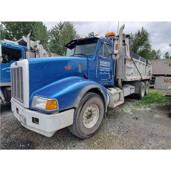 2001 PETERBILT, DUMP TRUCK, BLUE, VIN # 1NPGL60X11D563499