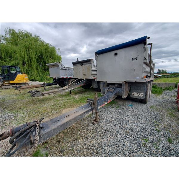 1981 NAHANNI, HEAVY PUP COMMERCIAL PONY TRAILER, GREY, VIN # 2BGD1030000021371