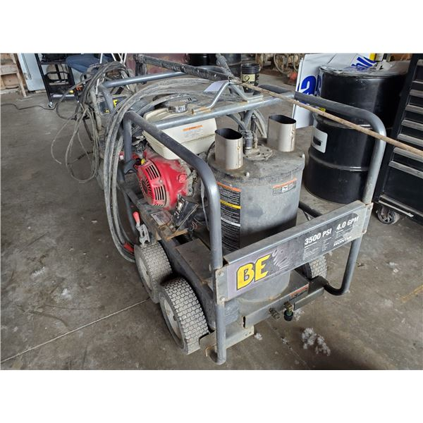 *BE 3500PSI 4.0 GPM GAS POWERED HOT WATER PRESSURE WASHER WITH HONDA GX 390 MOTOR, 2 WANDS & HOSE,