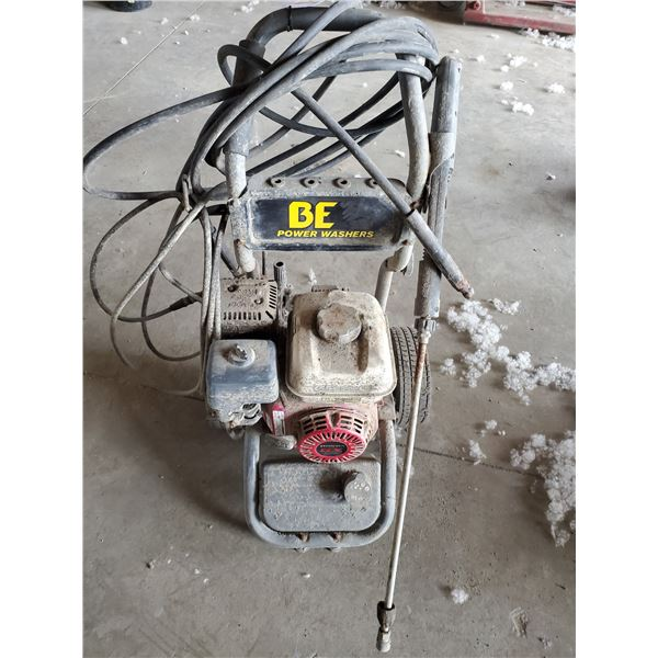 BE GAS POWERED WATER PRESSURE WASHER WITH HONDA GX 200 MOTOR, WAND & HOSE