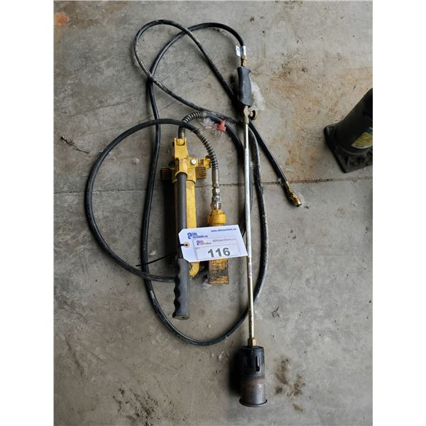 YELLOW PORT-A-POWER & PROPANE TIGER TORCH