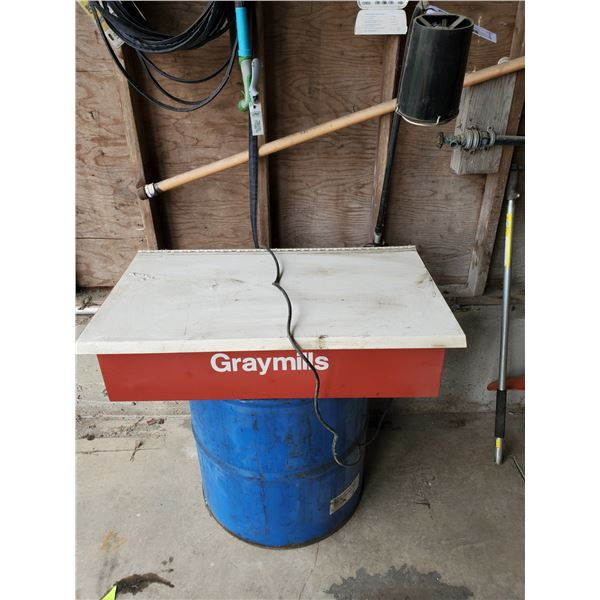 RED GRAYMILLS DMD232:LD BARREL TOP ELECTRIC INDUSTRIAL PARTS WASHER WITH LIGHT