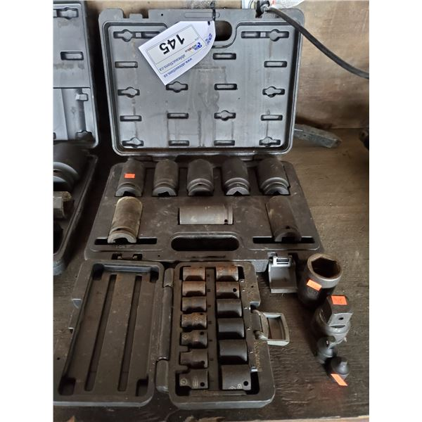 """PROPOINT 3/4"""" DRIVE 6 POINT IMPACT SOCKET SET IN CASE, PROPOINT 1/4"""" DRIVE 6 POINT IMPACT SOCKET"""