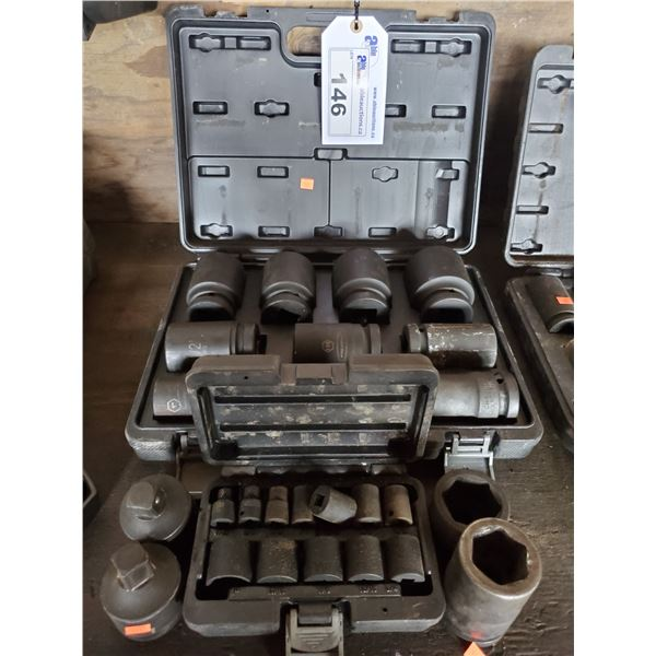 """PROPOINT 1"""" DRIVE 6 POINT IMPACT SOCKET SET IN CASE, PROPOINT 1/4"""" DRIVE 6 POINT IMPACT SOCKET"""
