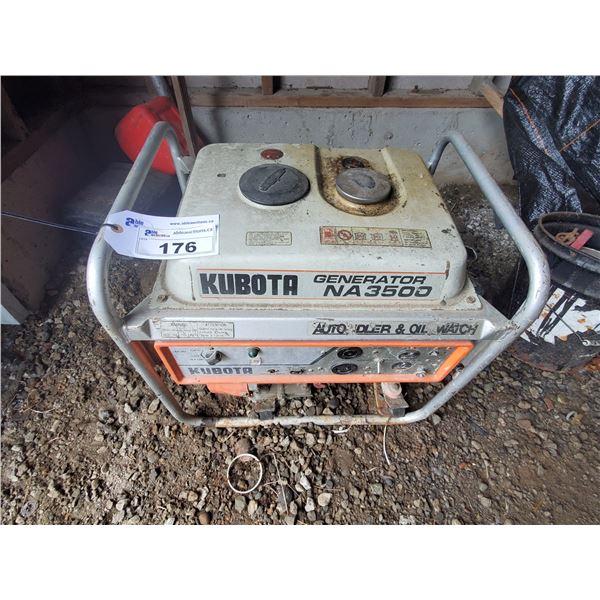 KUBOTA NA3500 GAS POWERED PORTABLE GENERATOR