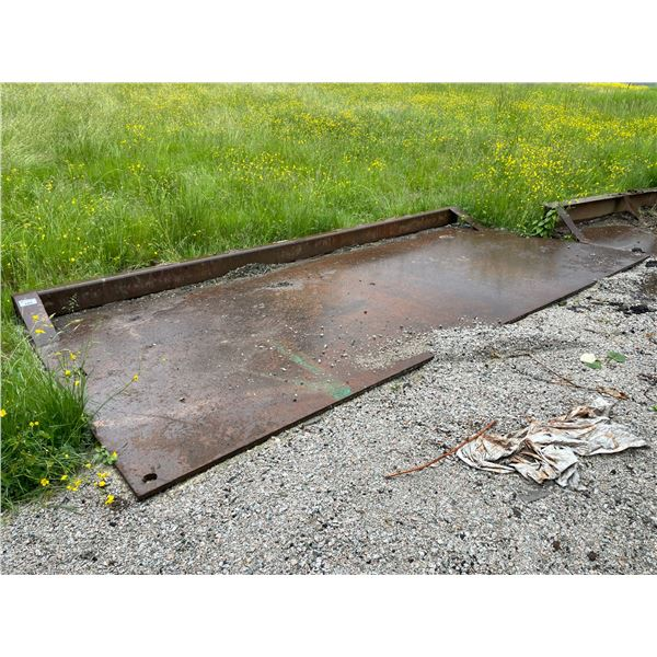 """*2 LARGE STEEL 16'W X 97""""D DUMP TRUCK STOPPER / EROSION PROTECTION PLATES ( HIAB REQUIRED FOR"""
