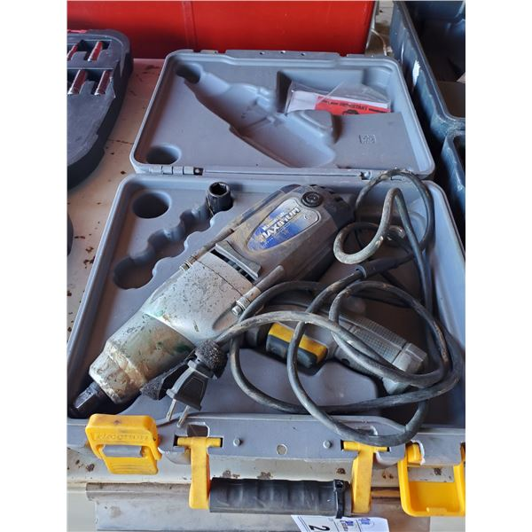 MASTERCRAFT MAXIMUM 120V CORDED 1/2' IMPACT WRENCH MODEL 054-1265-6 WITH HARD CARRY CASE