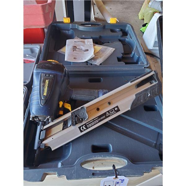 MASTERCRAFT PNEUMATIC FRAMING NAILER MODEL 58-8434-4 WITH HARD CARRY CASE