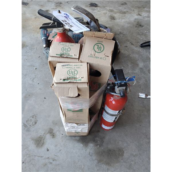 6 ASSORTED FIRE EXTINGUISHERS (CERTIFICATION UNKNOWN)